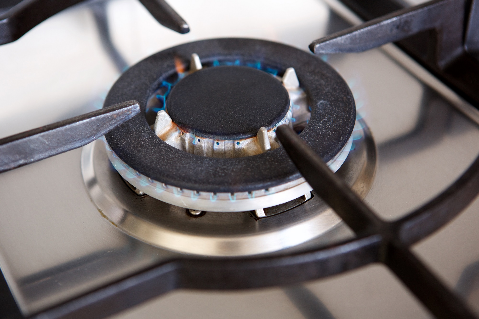 Gas Stove Top Burner With Flame